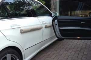 Doordefender car protector in beige colour