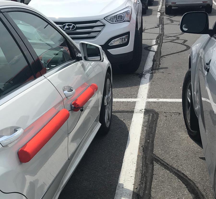 Doordefender RED magnetic removable car door protection Official UK supplier